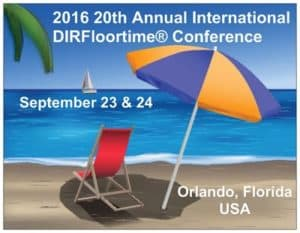 A Florida postcard announcing the 2016 ICDL Conference for DIRFloortime in Orlando